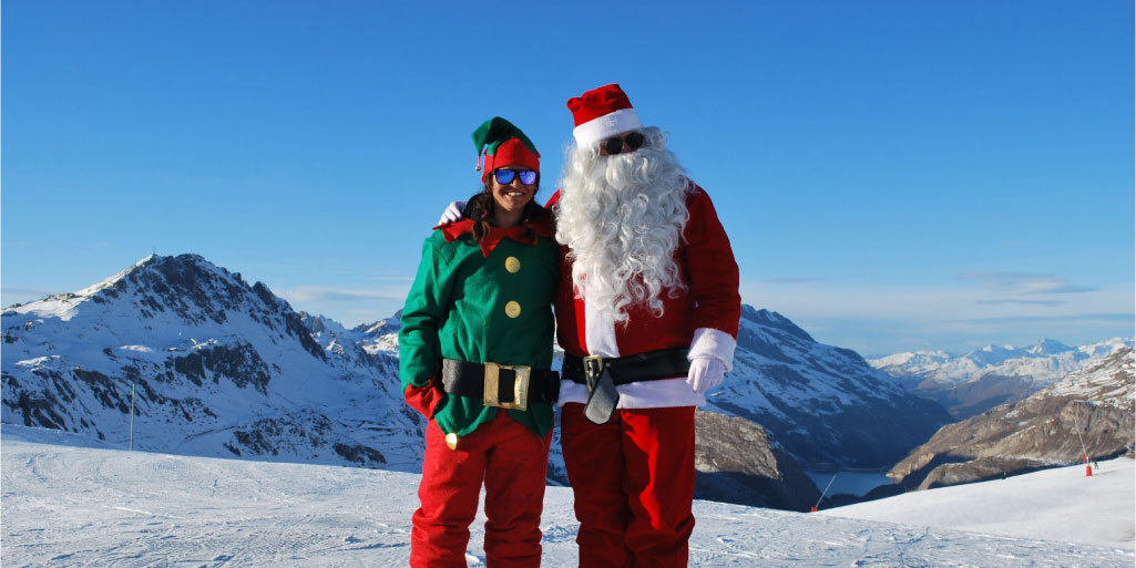 Father Christmas is on the slopes!